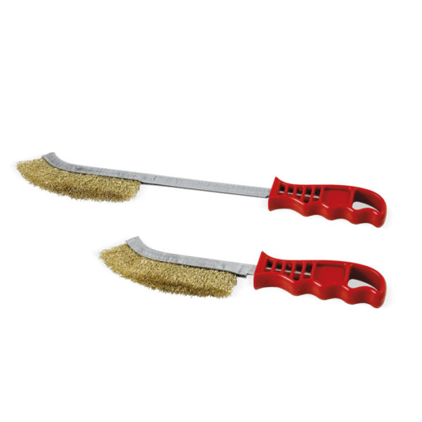 245 Brass plated steel hand brush
