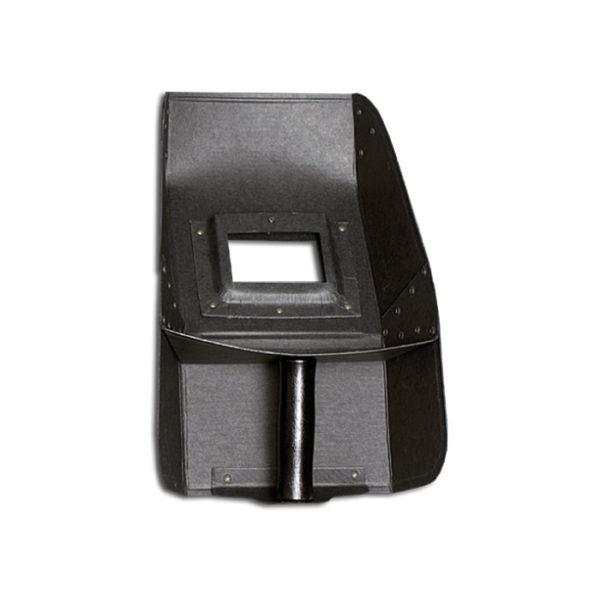 41 Reinforced, curved welding shield
